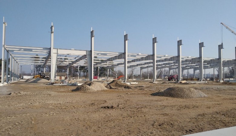 Construction of modern milk plant