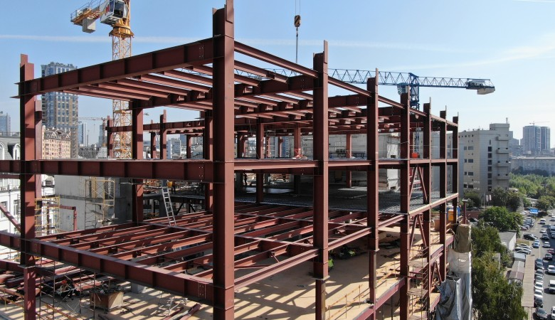 Metal structures for new PLATFORM business center in Kiev