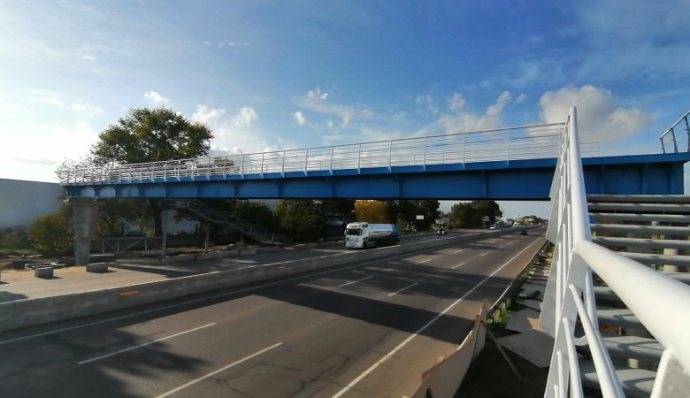 Bridge on the Kiev-Odessa highway is installed in the design position